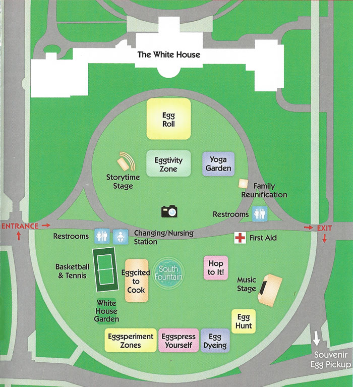White house easter egg roll 2017 lottery and event details House map photo
